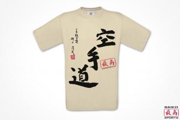 "BIO  T-Shirt ""Karate-Do"" beige"